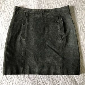 KUT from the kloth dark grey suede a-line skirt 4